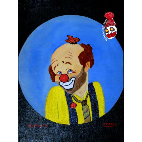 John Wayne Gacy -- Butterfly the Clown -- Oil Painting