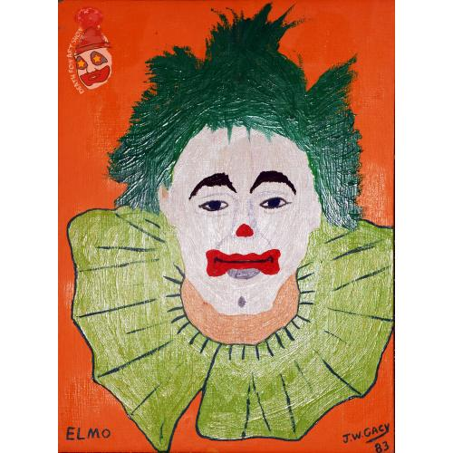 John Wayne Gacy -- Elmo the Clown -- Oil Painting