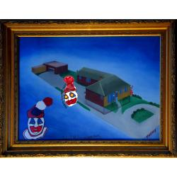 John Wayne Gacy -- 8213 W. Summerdale House -- Oil Painting