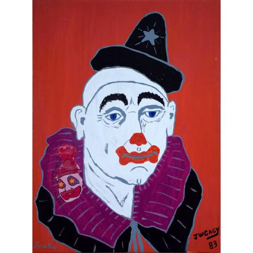 John Wayne Gacy -- Jocko the Clown -- Oil Painting