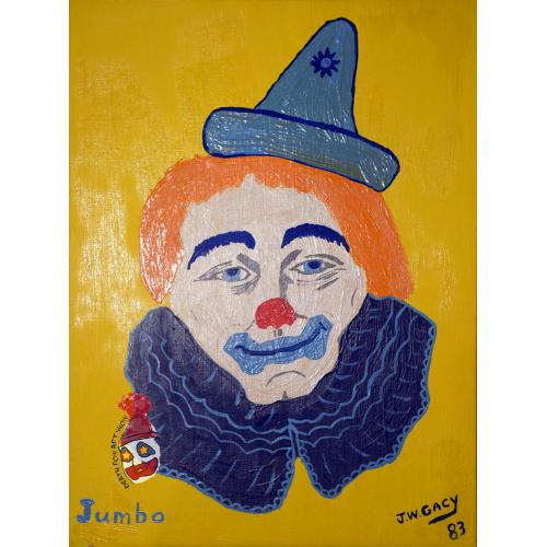 John Wayne Gacy -- Jumbo -- Clown Oil Painting