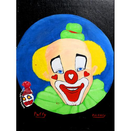 John Wayne Gacy -- Clown Oil Painting -- Puffy the Clown
