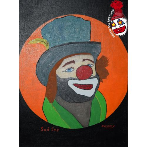 John Wayne Gacy -- Sad Sap -- Clown Oil Painting
