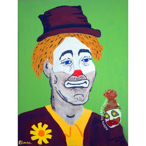 John Wayne Gacy -- Elmer the Clown -- Oil Painting