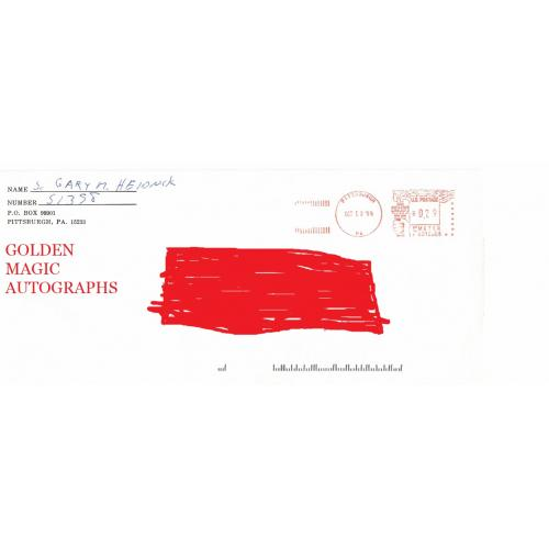 GARY HEIDNIK SIGNED IN FULL ENVELOPE