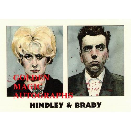 MYRA HINDLEY & IAN BRADY- TRUE CRIME CARD