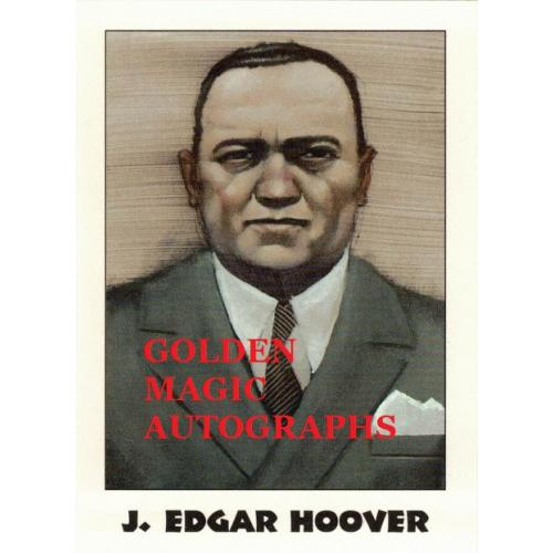 J. EDGAR HOOVER TRUE CRIME CARD