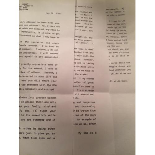 LOWELL E. AMOS TYPED 3 PAGE LETTER + ENVELOPE