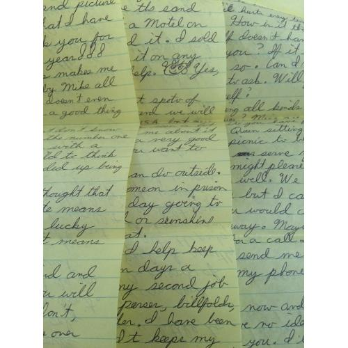 3 PAGE HANDWRITTEN LETTER/ENVELOPE FROM THE TUSCALOOSA STRANGLER