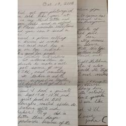 CANADIAN SERIAL KILLER JOHN MARTIN CRAWFORD HANDWRITTEN 2 PAGE LETTER + ENVELOPE