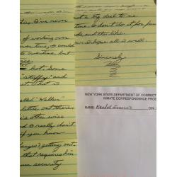DECEASED SERIAL KILLER KENDALL FRANCOIS HANDWRITTEN 2 PAGE LETTER WITH MAILING ENVELOPE