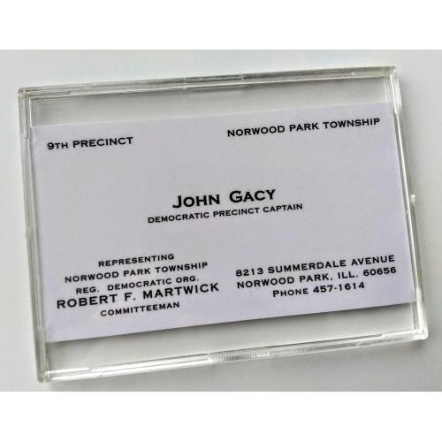 JOHN WAYNE GACY *BUSINESS CARD* HIGH QUALITY REPLICA