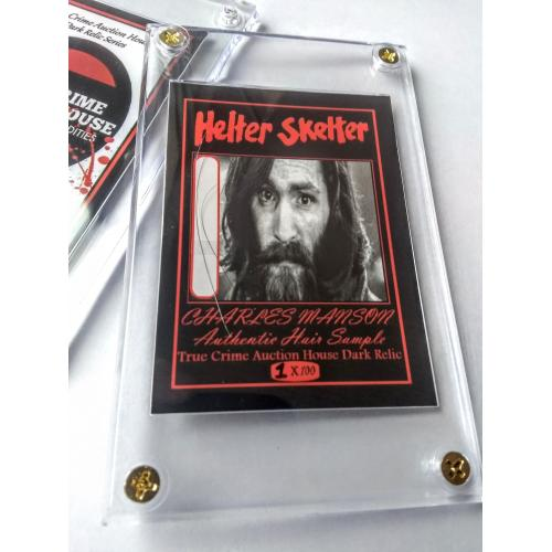 Charles Manson Helter Skelter Authentic Hair Sample In Collector Case