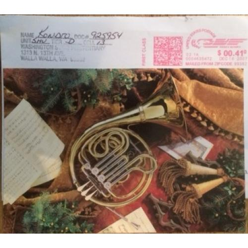 JOSEPH KONDRO HANDWRITTEN CHRISTMAS CARD COMES WITH ORIGINAL MAILING ENVELOPE