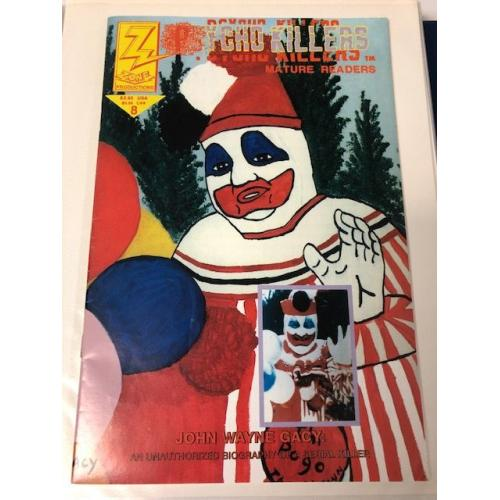 JOHN WAYNE GACY SIGNED COMIC BOOK