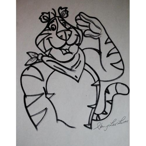 Henry Lee Lucus Tony the Tiger drawing