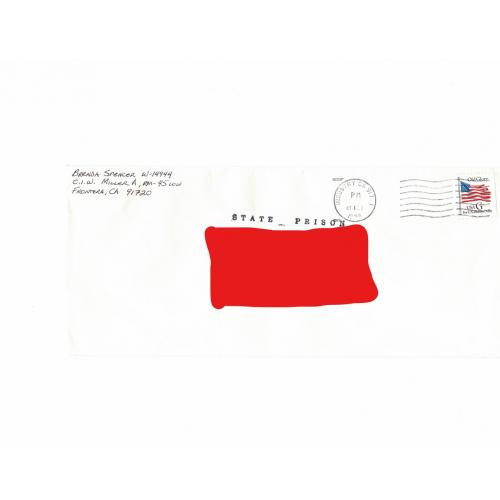 BRENDA SPENCER Prison Envelope Signed