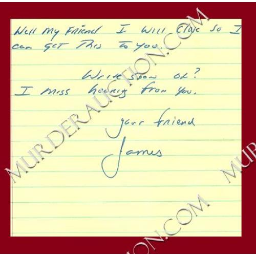 JAMES MUNRO letter/envelope 5/16/1997
