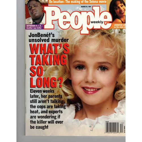 JONBENET RAMSEY PEOPLE MAGAZINE MARCH 24, 1997 MINT NEVER OPENED