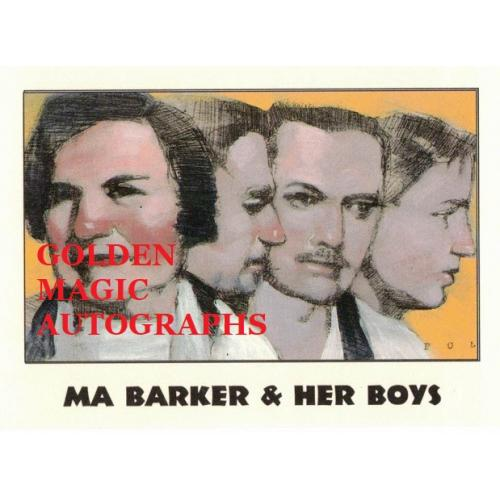 MA BARKER & HER BOYS TRUE CRIME CARD