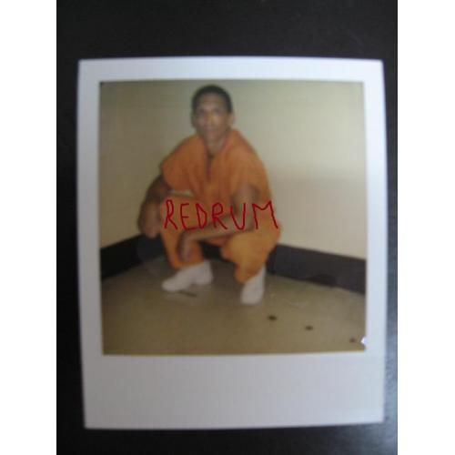 Manuel Pardo original one-of-a-kind prison polaroid from 2008