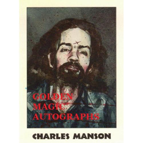 CHARLES MANSON- TRUE CRIME CARD