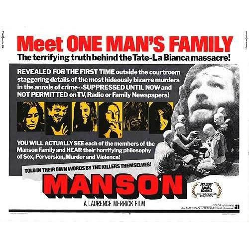 Charles Manson original movie poster Award Winner 1973