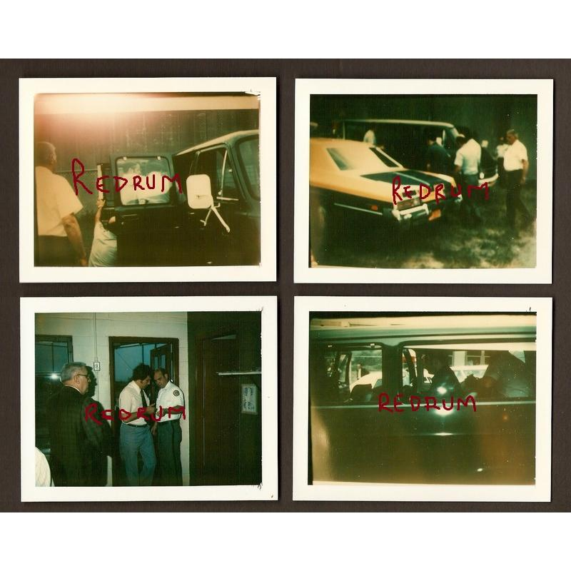David Berkowitz '' Son Of Sam '' very rare 2 x 2.5 inches photographs from 1977 when he was taken into custody by New York police homicide detectives