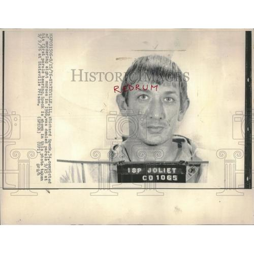 Richard Speck original mugshot from Stateville Prison press photo stamped from 1976
