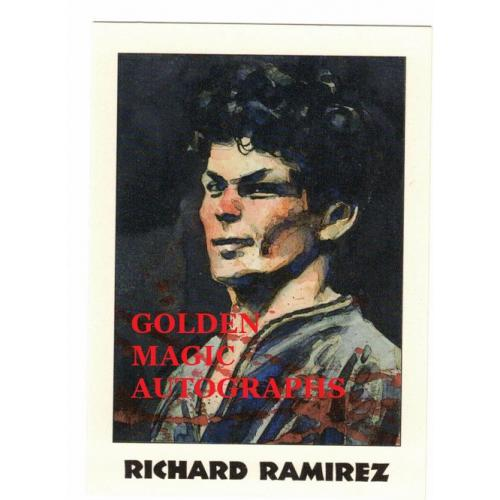 RICHARD RAMIREZ (THE NIGHT STALKER) - TRUE CRIME CARD