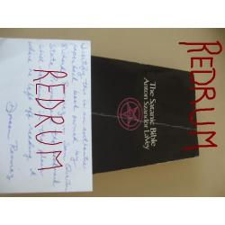 Richard Ramirez original satanic bible owned on deathrow st San Quentin State prison with COA