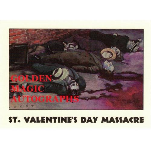 ST. VALENTINE'S DAY MASSACRE TRUE CRIME CARD