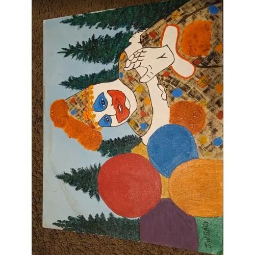 John Wayne Gacy Pogo the Clown Oil Painting - Corroborating Letters
