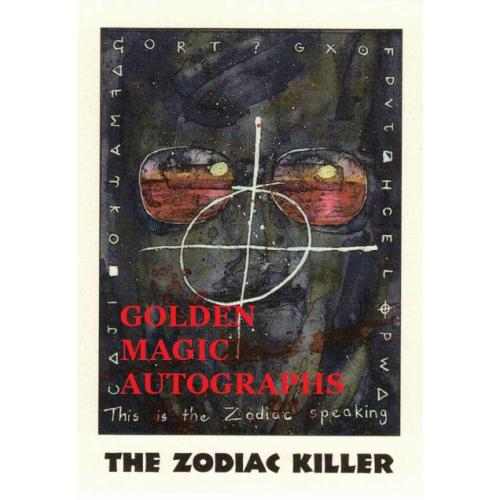 THE ZODIAC KILLER - TRUE CRIME CARD