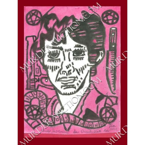 PHILLIP JABLONSKI Richard Ramirez painting 7.5×9.25 2012 DECEASED