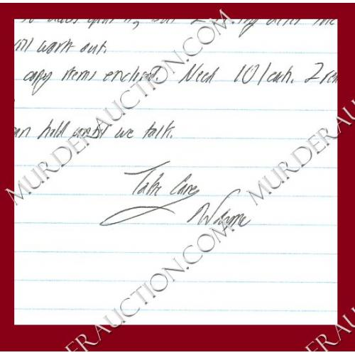 WAYNE WILLIAMS letter 6/11/2009