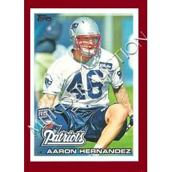 Aaron Hernandez 2010 Topps football card #96 DECEASED