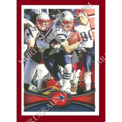 AARON HERNANDEZ 2012 Topps football card #323 DECEASED