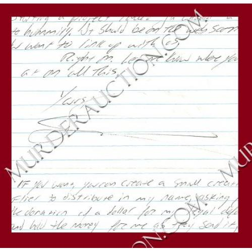 STEVEN WOODS letter/envelope 9/25/2007 EXECUTED