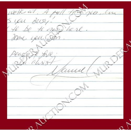MANUEL GARZA letter/envelope 1/20/2010 EXECUTED