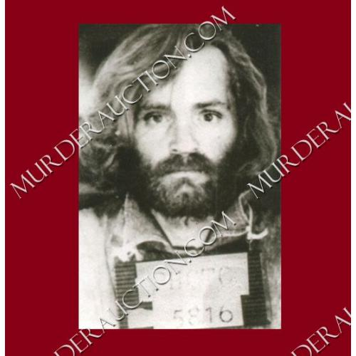 CHARLES MANSON photograph 4×6 (mugshot) DECEASED