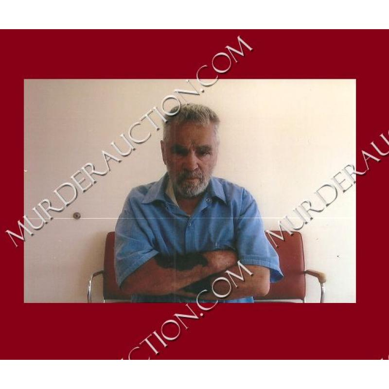 CHARLES MANSON photograph 4×6 (folded arms) DECEASED