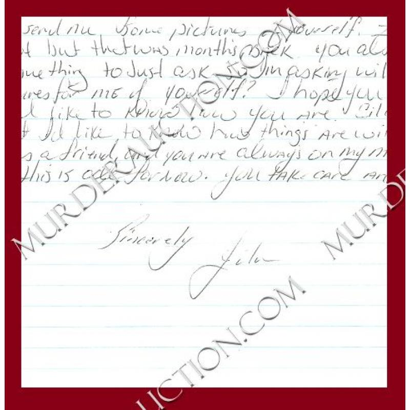 JOHN QUINTANILLA letter/envelope 9/22/2009 EXECUTED