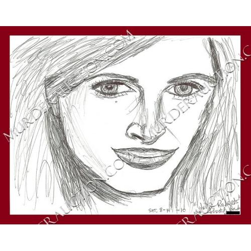 ROBERT BARDO Julia Roberts drawing 8/10/2010