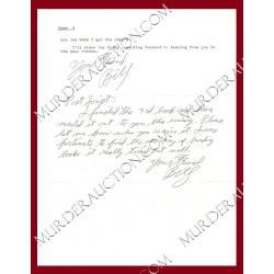 WILLIAM BONIN letter/envelope 5/26/1993 EXECUTED