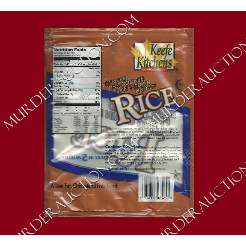 LAWRENCE BITTAKER initialed used bag of rice DECEASED
