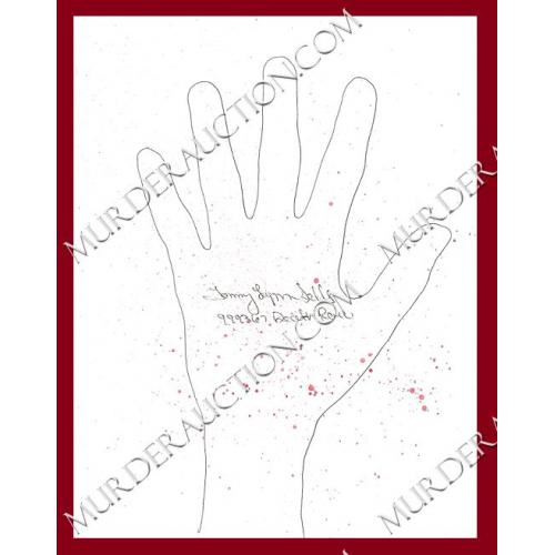 TOMMY LYNN SELLS bloody left hand tracing EXECUTED