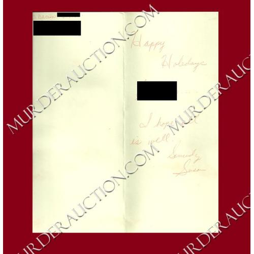 SUSAN BROWN card/envelope 11/21/2012