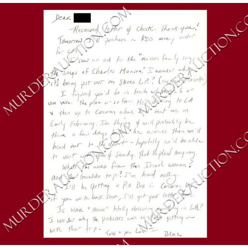 SANDRA GOOD card/envelope 7/15/1994 PAROLED