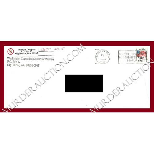 VERONICA COMPTON envelope 6/26/1995 PAROLED